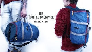 Duffle Bag Backpack DIY