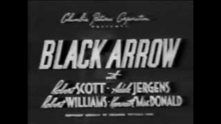 Serial   1944   Black Arrow   Chapter 15 of 15   Black Arrow Triumphs Robert Scott as Black Arrow