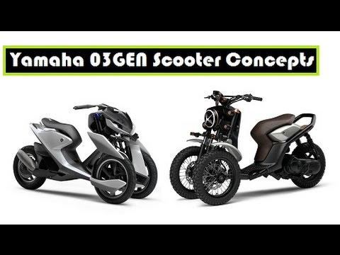 Yamaha 03gen Scooter Concepts Three Wheeled Scooter For