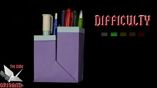 [ORIGAMI TUTORIAL] Pencil Pot (CUSTOMIZABLE Dimensions) || Boxes/Easy/Useful
