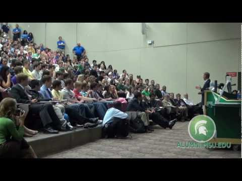 Ford Motor Company CEO Alan Mulally at Michigan State University
