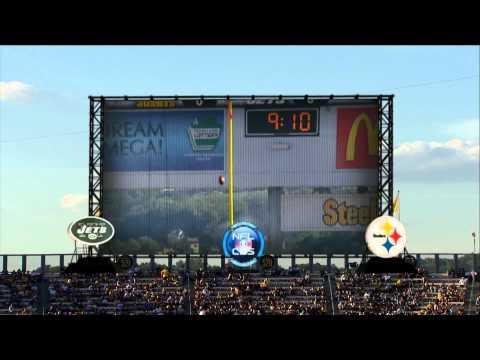 nfl on cbs 2001 2012 jets steelers halftime scoreboard