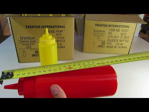 Plastic Squeeze Bottles Yellow  Red   720mL