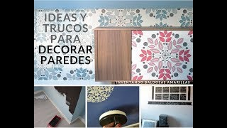 Ideas decoración paredes: pintura pizarra, papel pintado, chalk paint...