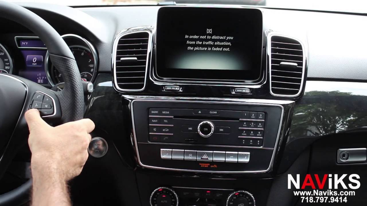 2016 Mercedes Benz GLE Class NAViKS Video In Motion Bypass Enable DVD, USB,  SD Card in Motion