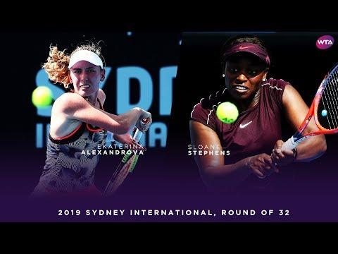 Sloane Stephens vs. Ekaterina Alexandrova  | 2019 Sydney International Round of 32 | WTA Highlights