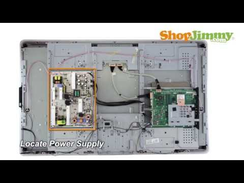 Philips LCD TV Repair - 27221710057 Power Supply Board Replacement - How to Fix Philips 47PFL TV