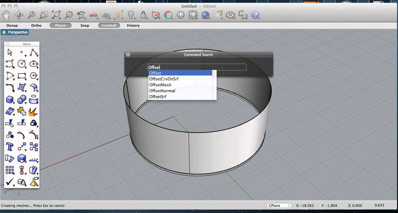 How to Thicken a Surface Rhino 3D: Offset Surface