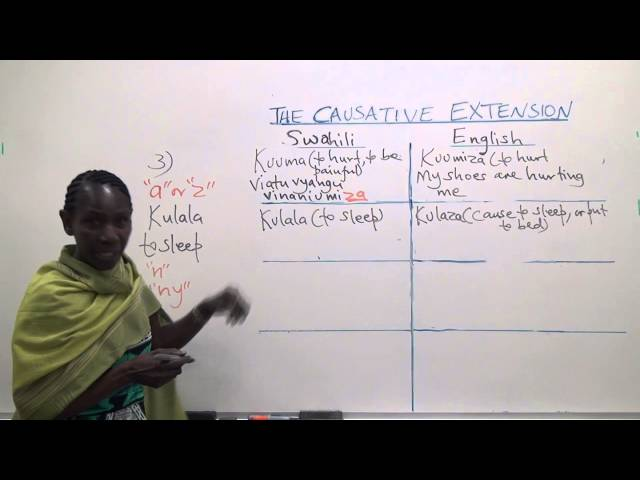 Swahili Grammar: The causative extension in Swahili