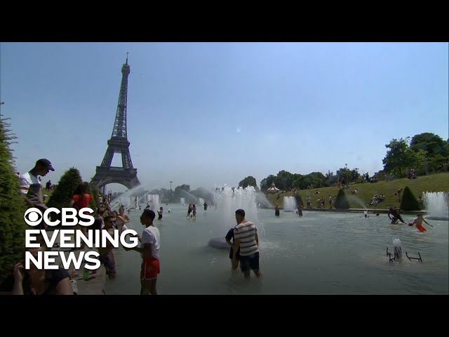 Seven people have died as heat waves spreads across Europe