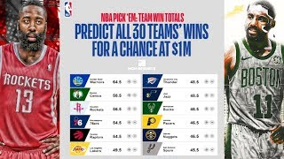 Predicting All 30 NBA Teams Regular Season Records For $1,000,000