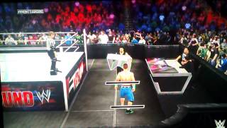 How to go to crowd in wwe 2k15 (Xbox 360)