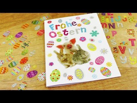Super Osterkarte selber machen | DIY Idee für Ostern mit Stickern | Geschenk für Ostern I DIY
