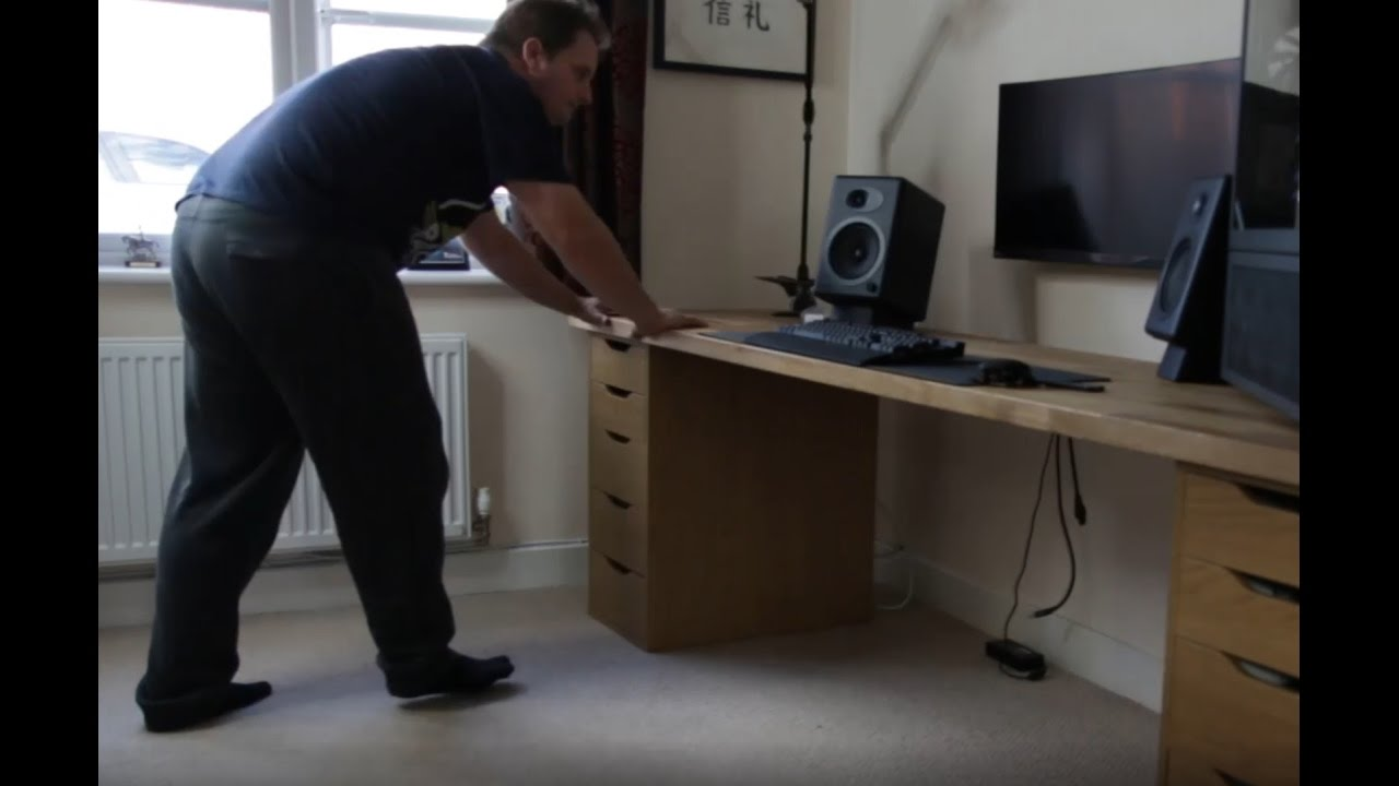 Ikea Pc Desk Build Redux Youtube