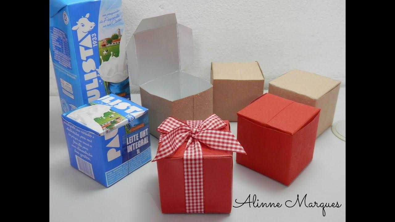 Adhesivo De Montaje Agorex ~ Caixinha reciclada feita com caixa de leite Artesanato passo a passo YouTube