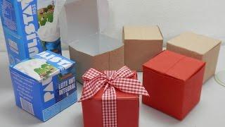 Caixinha reciclada feita com caixa de leite – Artesanato passo a passo