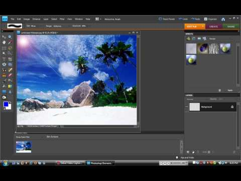 Photoshop elements 8 tutorial