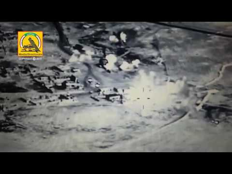 Iraqi Army Aviation strikes with PMU Intel on ISIS in Sharia & Ein Al-Hisan villages West of Mosul