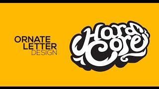 Ornate Letter Design - Hard Core - Adobe Illustrator