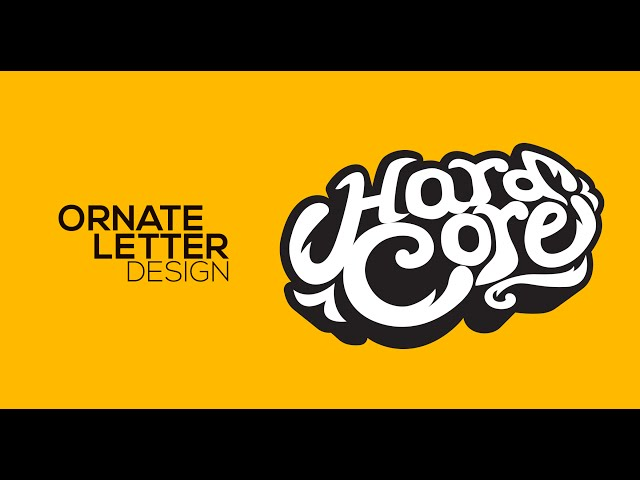 Ornate Letter Design - Hard Core - Adobe Illustrator