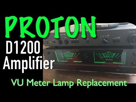 Proton D1200 Amplifier VU Meter Lamp Replacement - Let There Be Light
