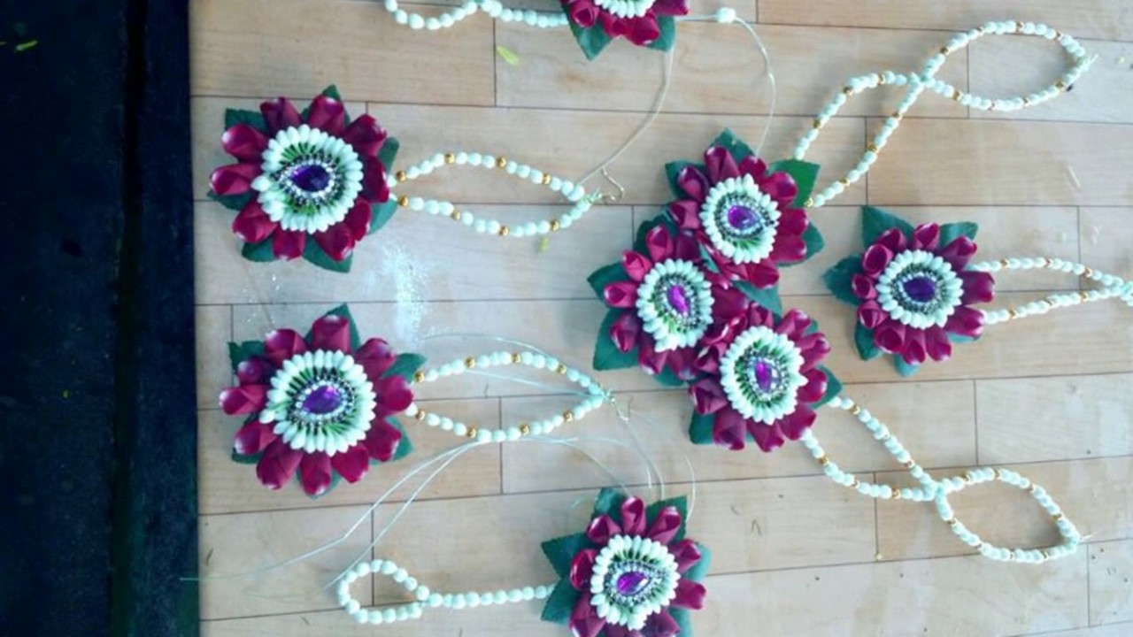Mehndi Flower Garlands : Madurai decorators wedding garlands and flower jewellery delivered