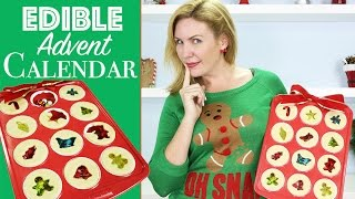 Cookie Christmas Calendar w/ Jolly Rancher Stained Glass & Candy Surprise Inside
