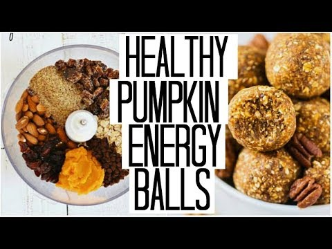 10 Minute HEALTHY Pumpkin Spice Energy Balls | Fitness Vlog