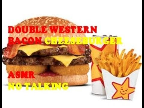 Carl's Jr Double Western Bacon Cheeseburger ASMR
