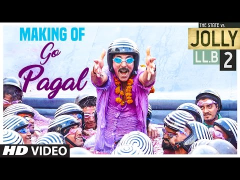 Jolly LLB 2   GO PAGAL Song Making   Akshay Kumar, Huma Qureshi   Raftaar, Nindy Kaur