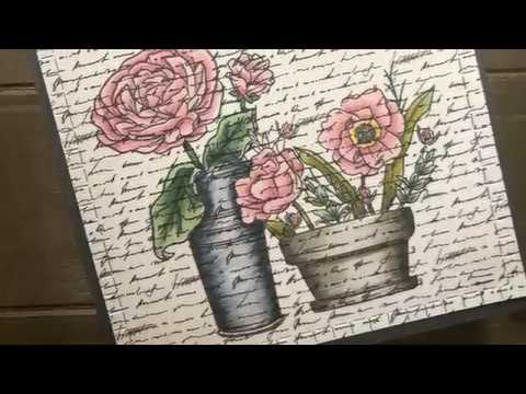 Connors Rubber Stamp Bouquet of   Flowers