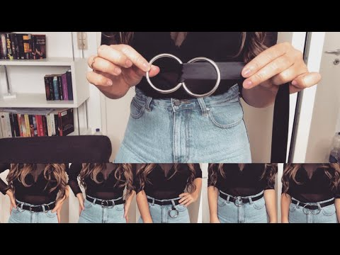 DIY DOULBE O RING BELT in Seconds + 10 Different ways to wear I Marina Si