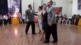 Gonzalo y Natalia con Ariel y Adriana. Tango en Perú