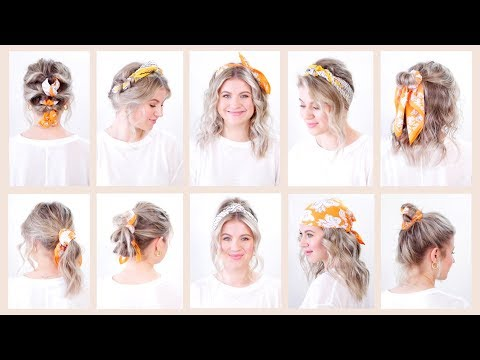 10 Easy Summer Hairstyles With Bandana Headband | Milabu