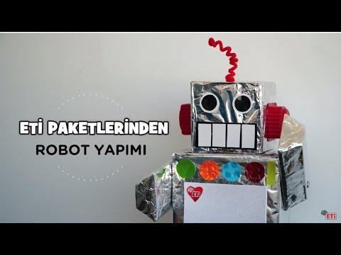 Eti Paketleri Ile Kendin Yap Diy Robot Youtube