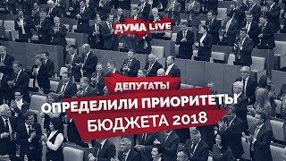 Депутаты определили приоритеты бюджета 2018 [прямая речь]