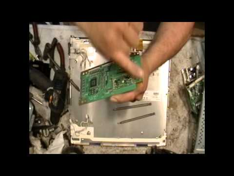 Scrapping a flat screen computer monitor