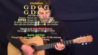 I Took A Pill In Ibiza (Mike Posner-Acoustic) Guitar Lesson Chord Chart - Capo 3rd