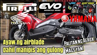 FIRST CONVERSION IN PH : HONDA AIRBLADE WITH YAMAHA AEROX MAGS (WALA KA NG HAHANAPIN PA!)