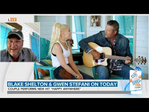 Blake Shelton interview on the Today Show plus Happy Anywhere performance with Gwen Stefani