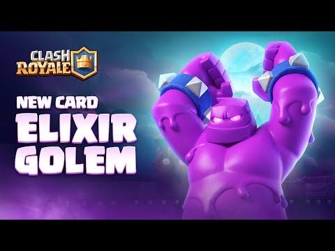 Clash Royale: NEW CARD - ELIXIR GOLEM! 👊 Season 4 Animation Reveal 🎃