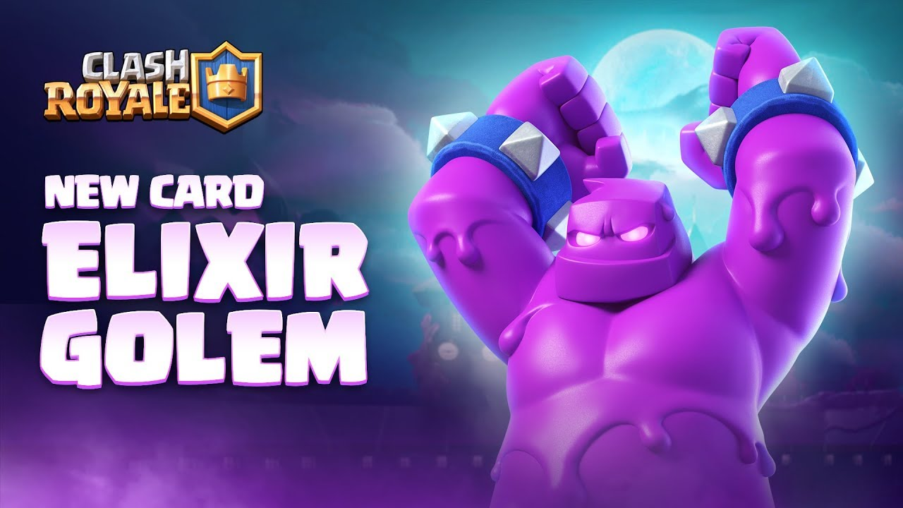 Clash Royale: NEW CARD - ELIXIR GOLEM!  Season 4 Animation Reveal