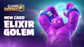 Gambar cover Clash Royale: NEW CARD - ELIXIR GOLEM! 👊 Season 4 Animation Reveal 🎃