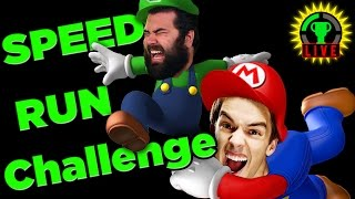 SPEED RUN Challenge | Super Mario Maker (feat. Jirard, The Completionist)