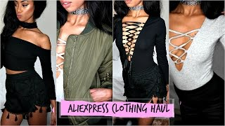 Aliexpress mini clothing haul & try on 2016 huge trend clothes!