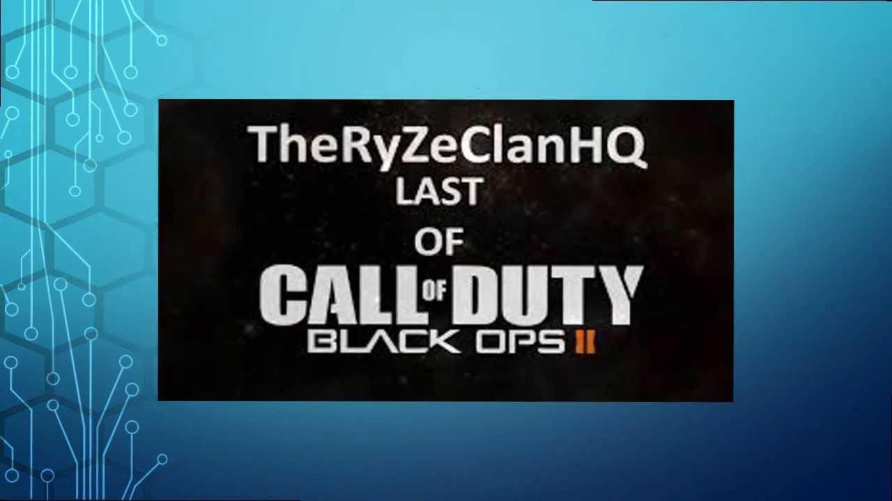 ALL NEW RyZe CLAN MW3 BO2