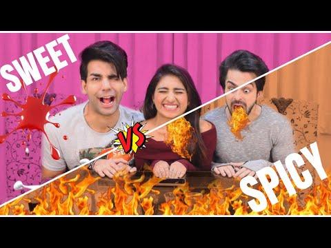 SWEET vs SPICY Challenge | Rimorav Vlogs