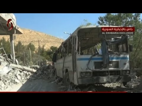 Syrian TV Shows Destruction After Attacks