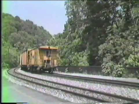 1980's Footage of C&O and B&O Freights in Harpers Ferry