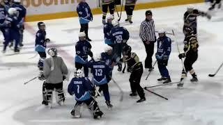 Массовая хоккейная драка на турнире в Молодечно
